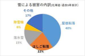 雪による被害内訳(北海道過去5年)