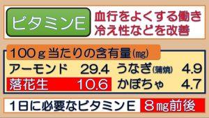 ビタミンEで冷え予防