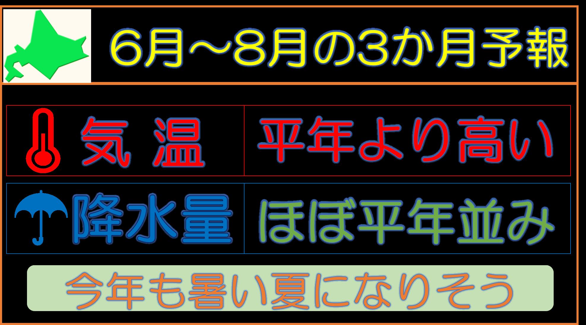 今年の夏の見通し【北海道の夏は暑くなる2017】