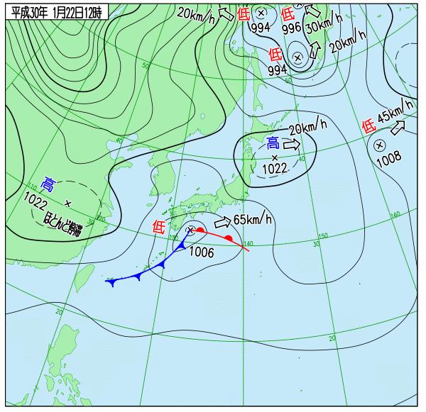 南岸低気圧の接近により、関東地方には冷たい北風が入っています